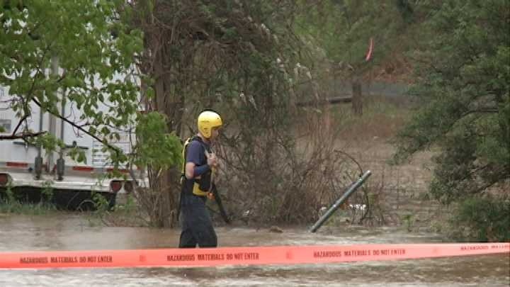 Rogers Fire Dept. makes swift water rescue