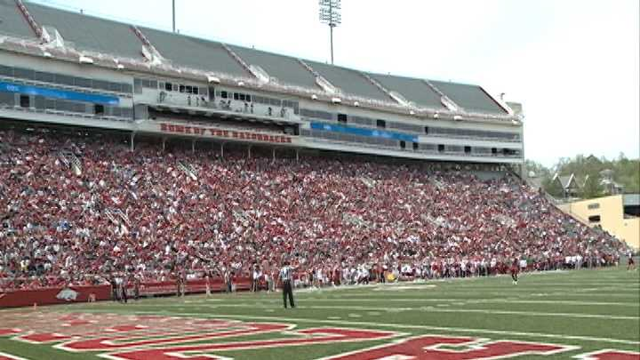 Spring Game Crowd
