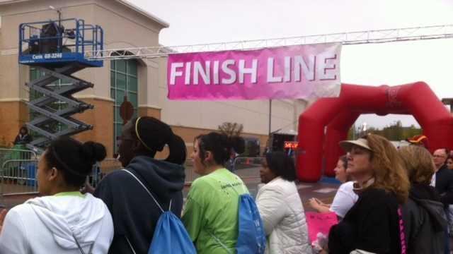 Komen Race finish line