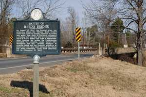 The Battle of Bayou Meto, also called the Battle of Reed's Bridge, happened on August 27, 1863, near Jacksonville in Pulaski County.  Union forces attacked entrenched Confederate troops, who retreated across Bayou Meto, burned Reed's Bridge, and stopped the Union from crossing the stream.