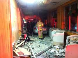 40/29 News has learned the driver lost control of the car and crashed into the building.