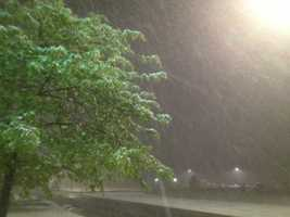 Snow in Siloam Springs.