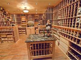 A wine connoisseur's dream, there is enough space in this cellar to collect for a lifetime.