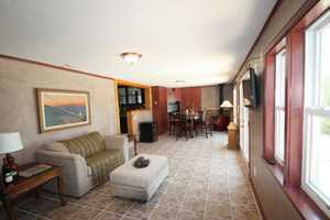 The guest house living room gives visitors a place to relax and have down time.