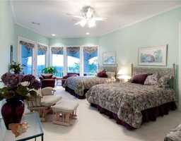 Whether shared by two sisters or offered as a guest room, this area will be put to great use.