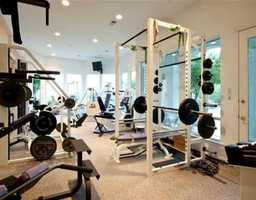 For all of your weight watching needs...the house comes equipped with a weight room!
