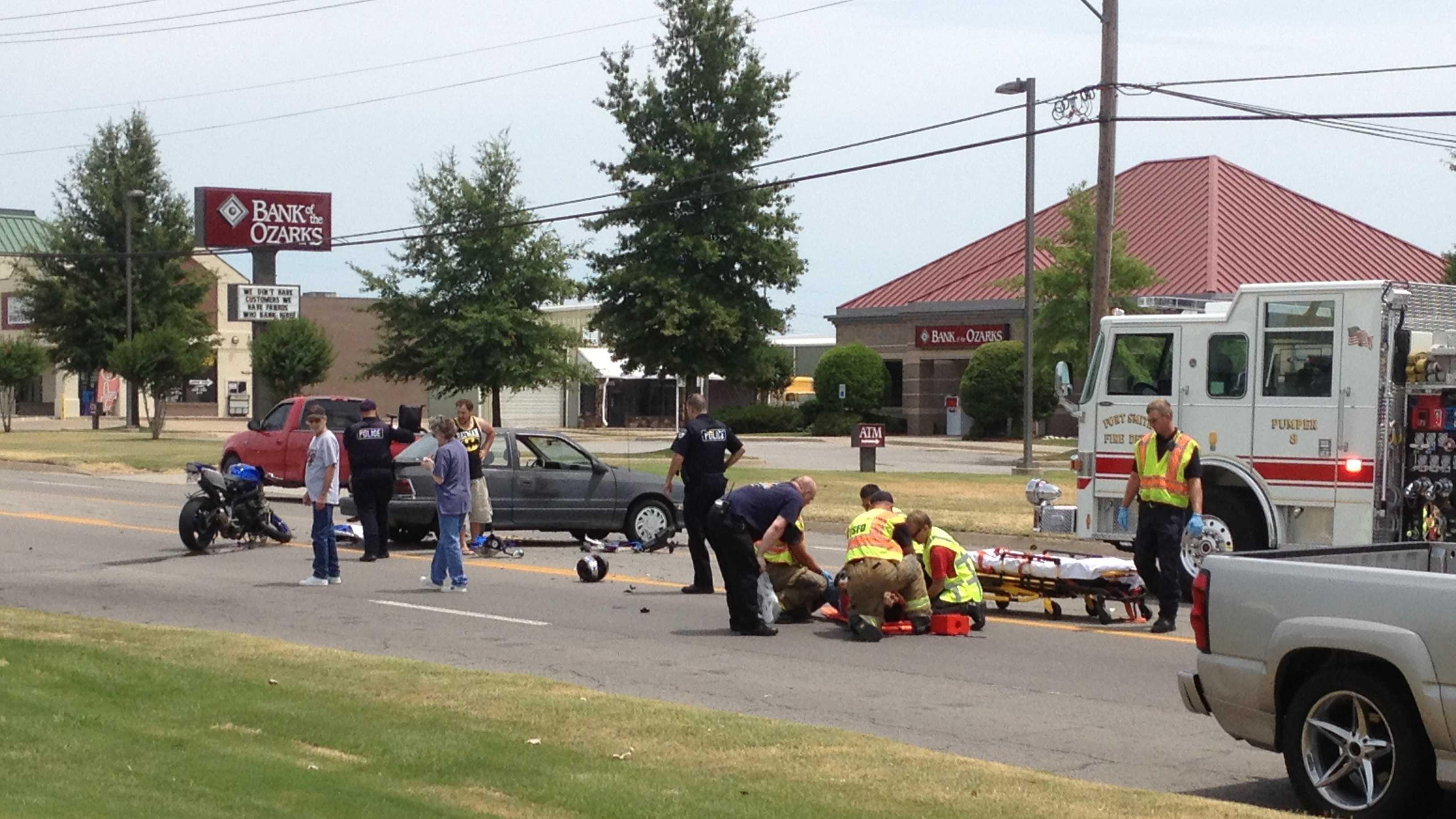 Motorcyclist treated after crash on Zero Street