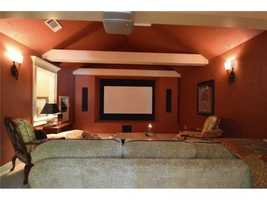 It features a large media room.