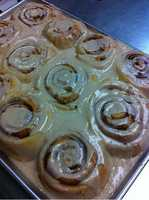 Sweet D'z Express Bakery is on South Walton in Bentonville. These cinnamon rolls are just one of the many sweet treats you can find there.
