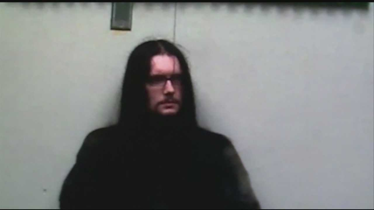 40/29 obtained video of police questioning Gregory Kinsey, the man accused of killing two people with a machete.