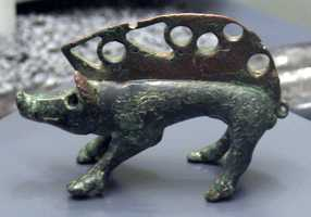 This ancient Celtic statue of a boar dates from the 3rd century B.C.