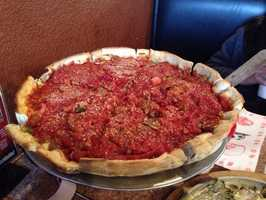 Gusano's Pizza has three locations in Northwest Arkansas. A location in Bella Vista, Bentonville and in Fayetteville. They are known for having great Chicago Style pizza.