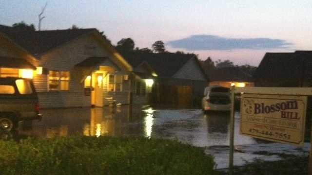 Nursing home residents evacuated from floods