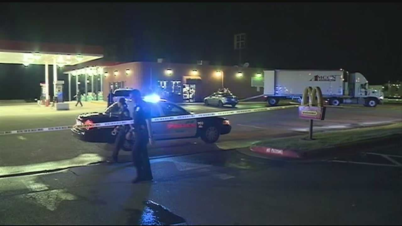 Police say a man that held up a gas station in Rogers overnight is still on the loose.