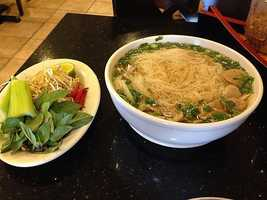 Thai E-San is located in Springdale! This is the Beef Pho which is said to be great! It is one of Springdale's best kept secrets.