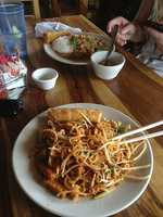 Thep Thai Restaurant in Fayetteville! Pictured here is the pad thai!