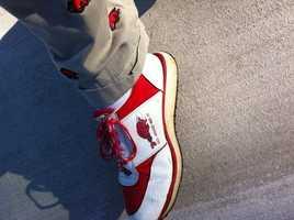 Vintage Razorback shoes