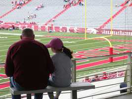 """I love my dad to death, but we can never watch the Hogs game in the same room. Bad things happen instantly."""
