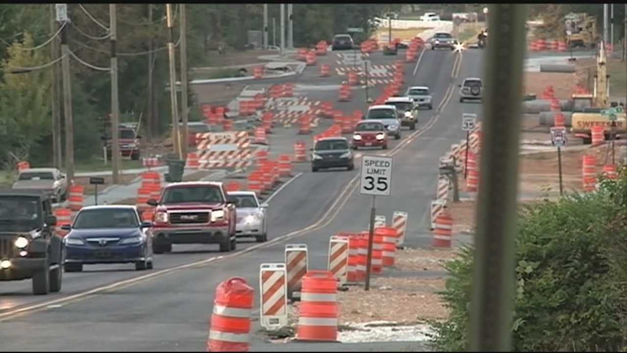 Fayetteville drivers search for alternate routes around the construction in town.