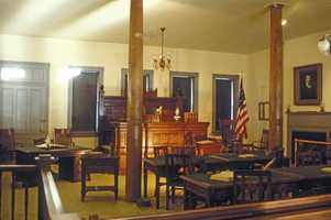 Judge Parker sentenced dozens of people to death in his courtroom in Fort Smith. The ghosts of those hanged still haunt the National Historic Site.
