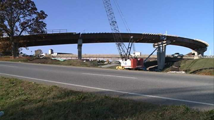 Construction continues along the College Avenue flyover