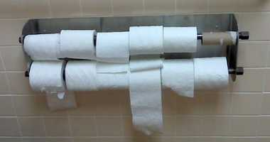 The average American uses 57 squares of toilet paper a day. That's about 7,000 feet a year!