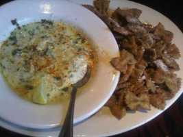 Spinach Artichoke Dip with Bow Tie Pasta at Copeland's in Rogers