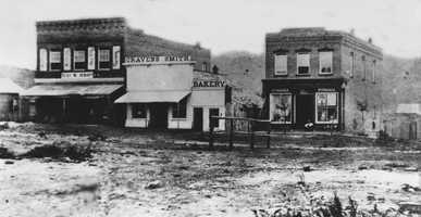 East side of the Historic Downtown Square in 1872.