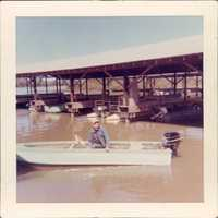 Gordon Mhoon, the first dock operator at Lake Sequoyah, in the 1960's.