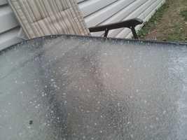 Ice at 9:13am Springdale Arkansas