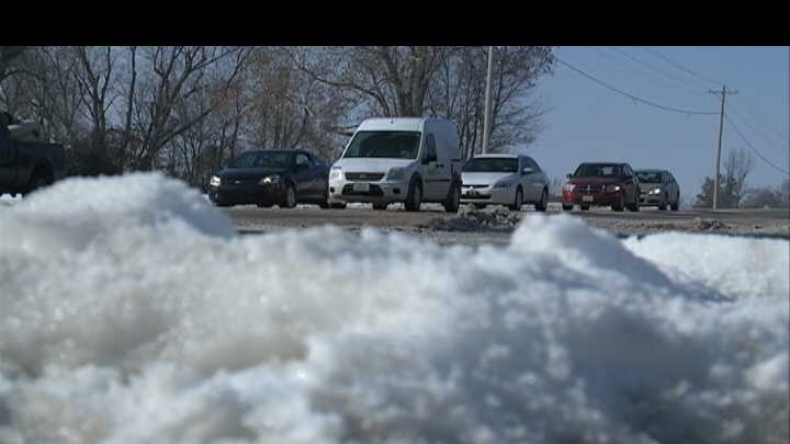 Rogers roads covered in ice