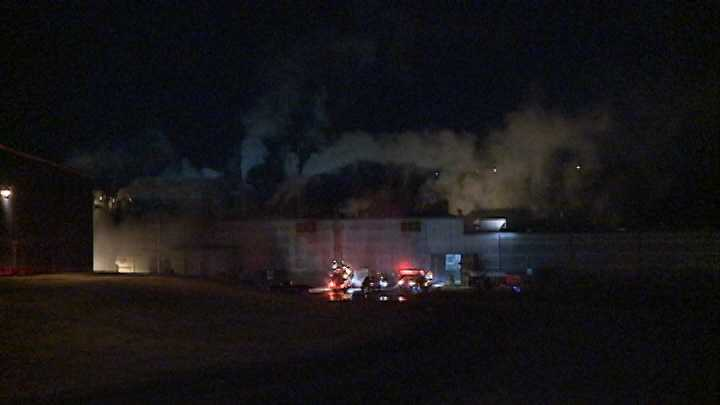 Firefighters responded to a fire around 1:15 am Tuesday at the Bekaert steel factory in Van Buren.