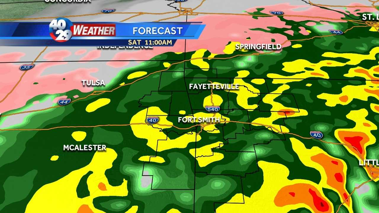 Soggy for Saturday, but smoother sailing to come
