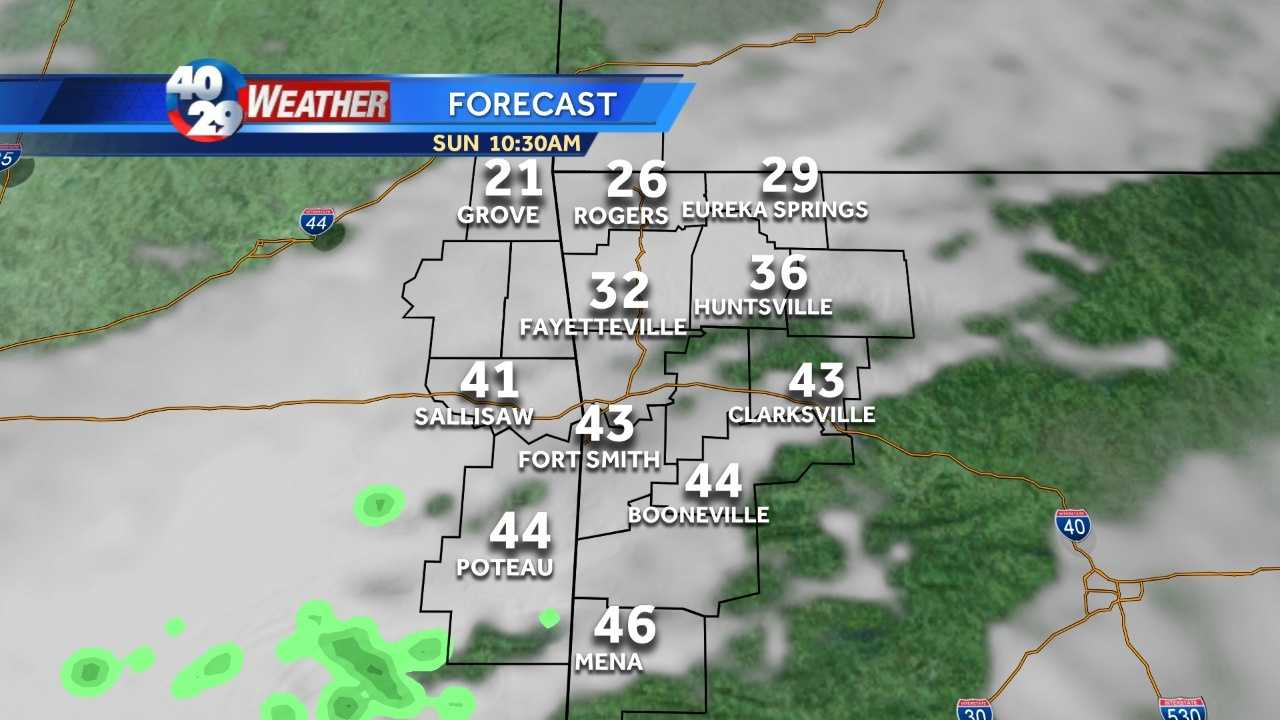 Our warm weathertreat has been nice while it lasted, but it all comes crashing down Sunday as cold air surges back in.