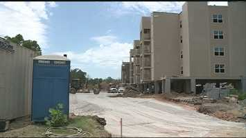 Accidents, construction workers' deaths , delayed construction and city inspections plagued the Vue Apartment Complex built in Fayetteville on MLK drive during the Summer of 2013. The construction company building the complex faced several OSHA violations. All this led to a delayed move-in date for U of A students after city engineers denied an occupancy order due to incomplete construction.