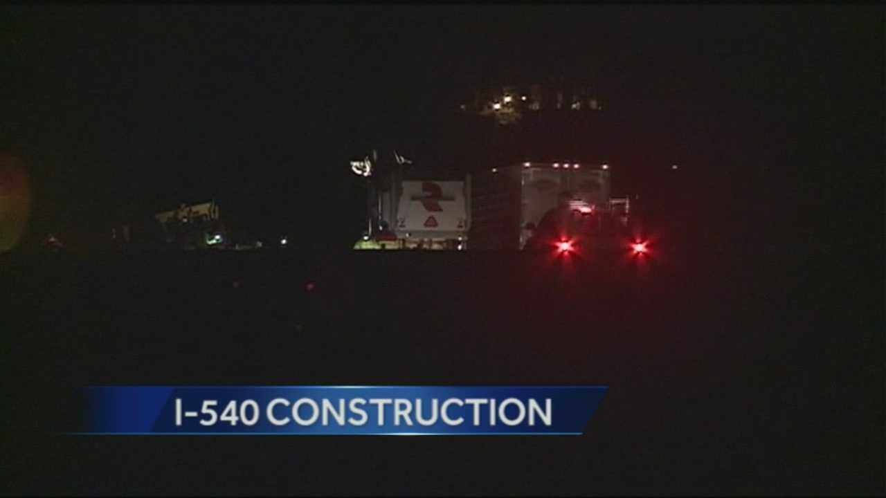 Winter weather delayed construction on I-540 earlier this month, but now crews say they are back on track for a Summer completion date.