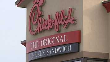 #2 Chick-Fil-A on Razorback Road brought in$36,806.81 and #1 Chick-Fil-A brought in$42,659.34