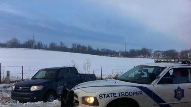 Icy roads remain in wake of winter storm