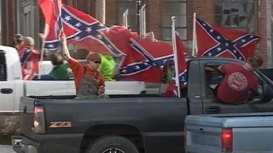 Waldron High School flag protest