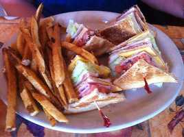 Club Sandwich and Fries