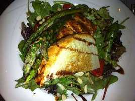 Asparagus and Salmon Salad, Crabby's Seafood Bar & Grill-Rogers