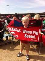 Question: How my football conference titles did Arkansas win under Frank Broyles?