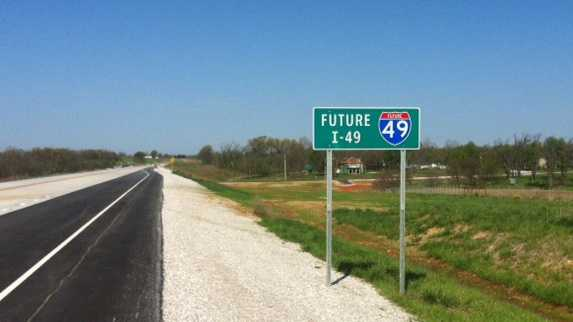 I-540 becomes Interstate 49