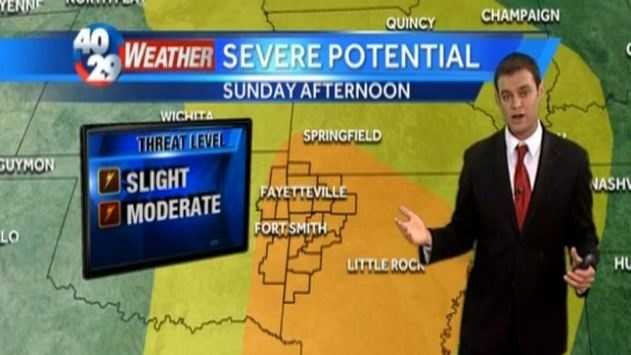 Severe weather moves in this weekend