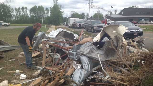 Police warn those clearing storm debris to get permission from homeowners