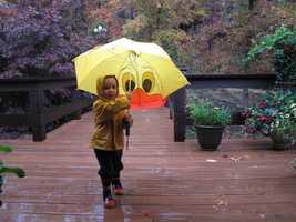 10. LiamThis was sent from a ulocal viewer of Liam walking outside on a rainy fall day.
