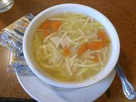Soups can warm you up, but the amount of sodium in some could make your blood boil. A cup of canned chicken noodle soup has much as 744 milligrams of sodium.
