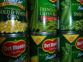 Canned veggies come packed with extra preservatives and often extra sodium. A cup of canned cream-style corn may have 730 milligrams of sodium.