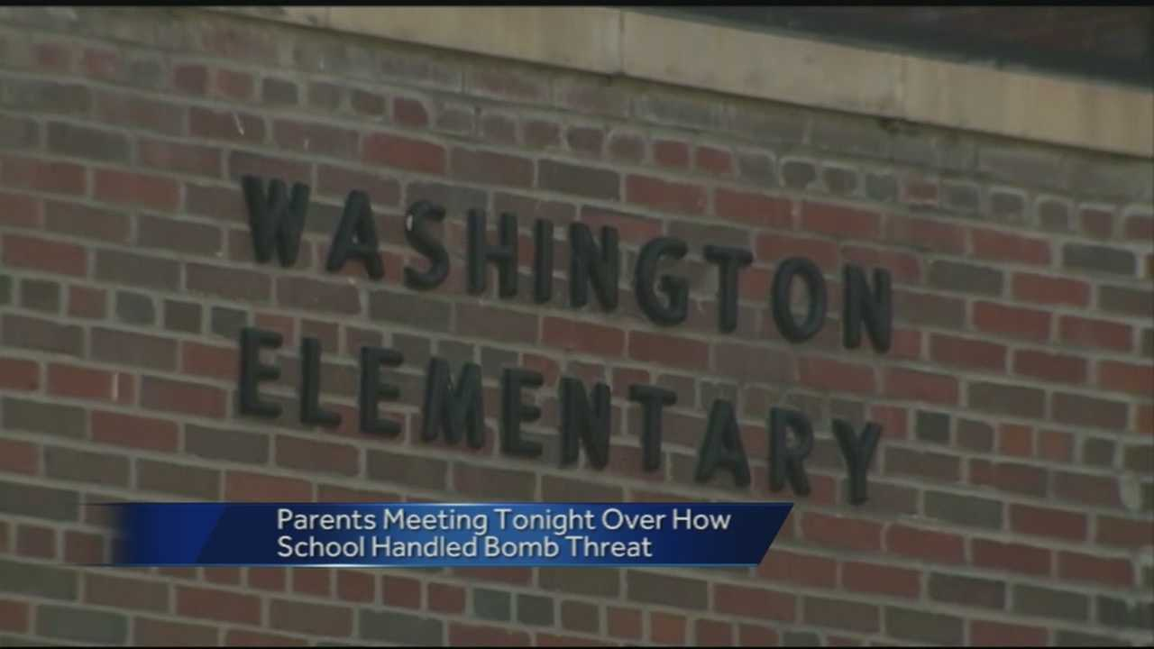 The principal of Washington Elementary says she asked a custodian to erase the threat.