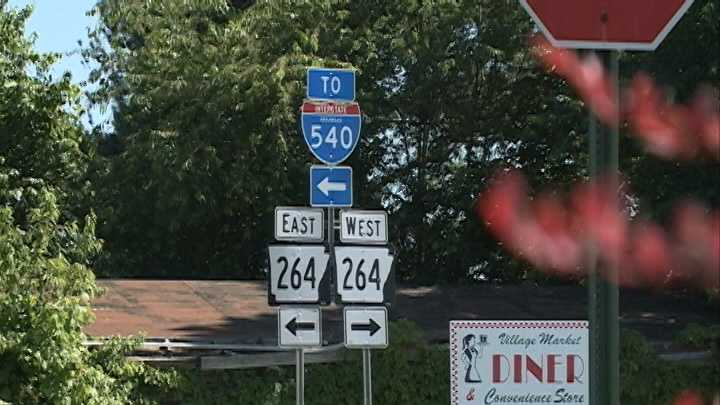 Old Interstate 540 signs still posted despite name change to Interstate 49